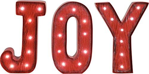 Red Letter Joy LED Light-up 6