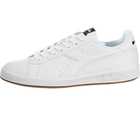 Diadora Mens Game P Lace Up Sneakers Shoes Casual - White