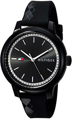 Tommy Hilfiger Women's 'EVERYDAY SPORT' Quartz Resin and Silicone Casual Watch, Color:Black (Model: 1781815)