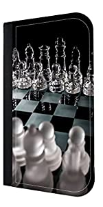 Glass Chess Print Design-TM Apple iPad« mini - Versions 1,2, and 3 PU Leather and Suede Case Made in the USA