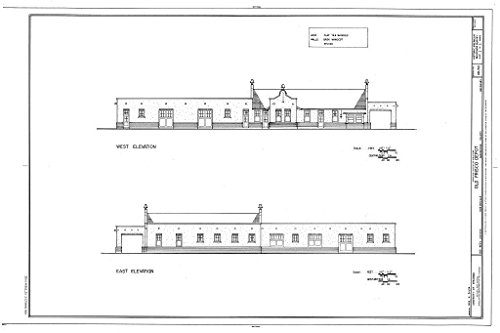 Historic Pictoric Blueprint Diagram HABS ARK,72-FAYV,4- (Sheet 3 of 5) - Old Frisco Depot, 550 West Dickson, Fayetteville, Washington County, AR 12in x 08in -