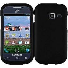 A-Smile@ Case for Galaxy Centura S738C, [Black] Thin Soft Silicone Rubber Cover Case for Samsung Galaxy Centura S738C