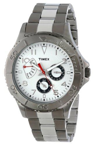 Retrograde Stainless Steel Case - Timex Men's T2P038KW Ameritus Retrograde Two-Tone Stainless Steel Bracelet Watch