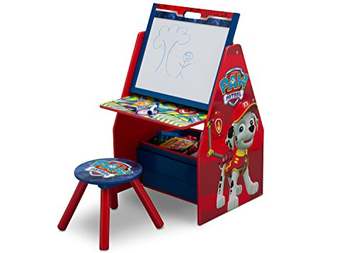 Paws Art (Delta Children Activity Center with Easel Desk, Stool, Toy Organizer, Nick Jr. PAW Patrol)