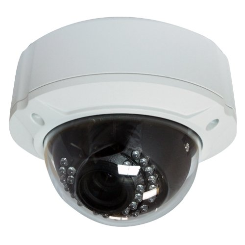 GW Security Inc GW2010A Professional Weatherproof Dome IR Security Outdoor Camera - 1/3-Inch Sharp CCD, 540 TV Lines, Vari-focal 4 to 9mm Manual (Sharp Ccd Camera)
