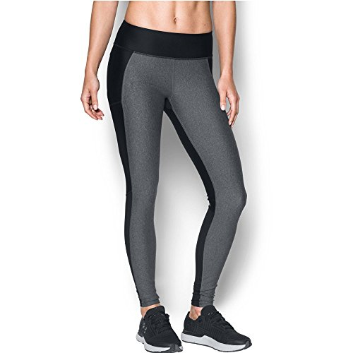 Under Armour Women's Fly-By Legging, Black/Carbon Heather, Small by Under Armour