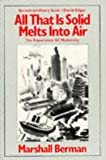 All That Is Solid Melts into Air, Marshall Berman, 0860917851