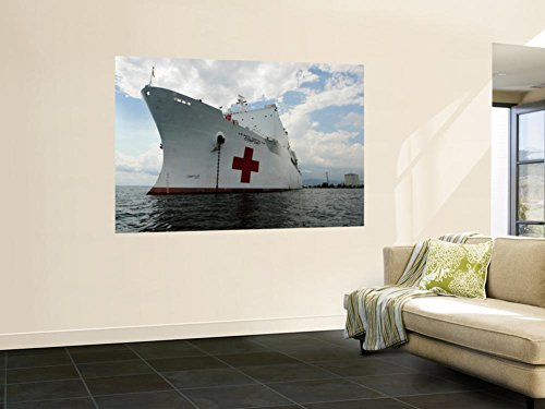 - Military Sealift Command Hospital Ship Usns Comfort at Port Wall Mural by Stocktrek Images 48 x 72in