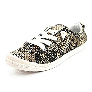 Forever Link Women's Classic Slip-On Comfort Fashion Sneaker, Snake (6.5)
