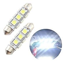 GrandviewTM White LED 44mm 5050-12-SMD 12V Festoon Dome/Map/Trunk Light Bulbs 211-2 212-2 569 578 (pack of 4)