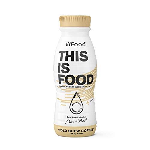 YFood Kaffee | Laktose- und glutenfreier Nahrungsersatz | 22g Protein, 26 Vitamine und Mineralstoffe | Leckere Astronautennahrung - 17% des Kalorienbedarfs | Trinkmahlzeit, 8 x 330 ml (1 kcal/ml)
