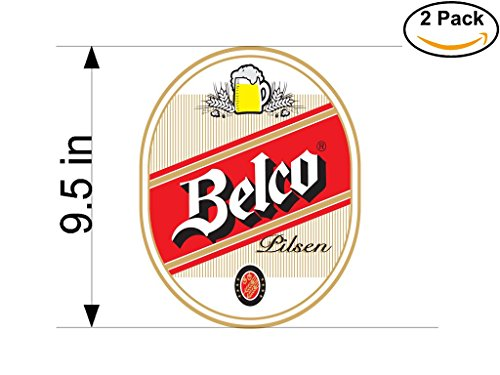 belco-3-beer-logo-alcohol-4-vinyl-stickers-decal-bumper-window-bar-wall-95-inches