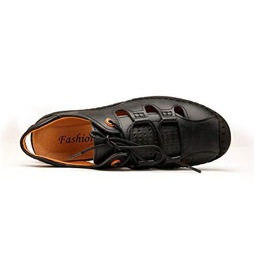 Extérieures Anti Mode Et Creuses De D'été À D'eau Hommes Des Pour Sandales Ofgcfbvxd Antidérapant Confortables Lacent collision Noir Décontractées Chaussures Pêcheur La AC7q46wx