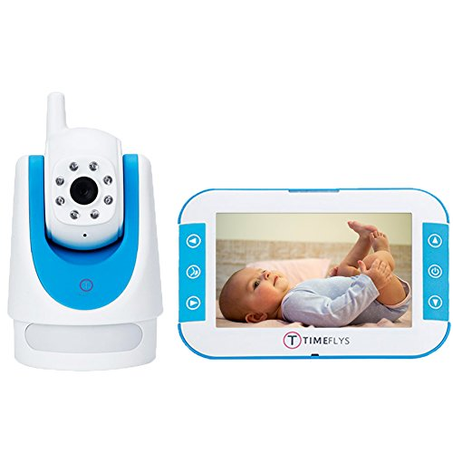 Child Baby Video Monitor Audio Set TimeFlys Baby Safety Camera&Sound Monitoring System with Zoom&Pan Tilt Motion Detection (Large, White) (Motorola Split Screen)