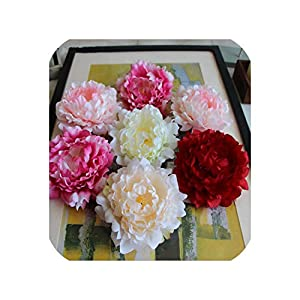 5 Pieces 14cm Peony Flower Head Silk Artificial Large Flowers for Wedding Decoration Decorative Wreath Fake Flowers Wall 117