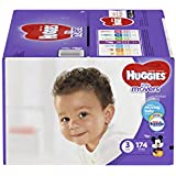 HUGGIES LITTLE MOVERS Diapers, Size 3 (16-28 lb.), 174 Ct, ECONOMY PLUS (Packaging May Vary), Baby Diapers for Active Babies