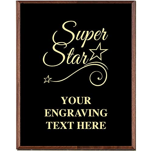 (Crown Awards Corporate Appreciation Plaques - 5 x 7 Super Star Gold Etched Recognition Trophy Plaque Award Prime)