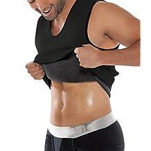 SEXYWG Men's Soft Tank Top Sport Corsets Garment Vest Ultra Sweat Reversible