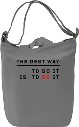Do It Borsa Giornaliera Canvas Canvas Day Bag| 100% Premium Cotton Canvas| DTG Printing|