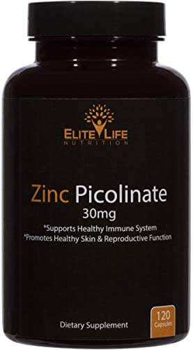 Zinc Picolinate 30mg - Best Zinc Supplement for Men and Women - Pure, Natural, Vegan, and Bioavailable - Optimal for Immune Support, Skin Health, and Vital Growth and Development Now - 120 Capsules