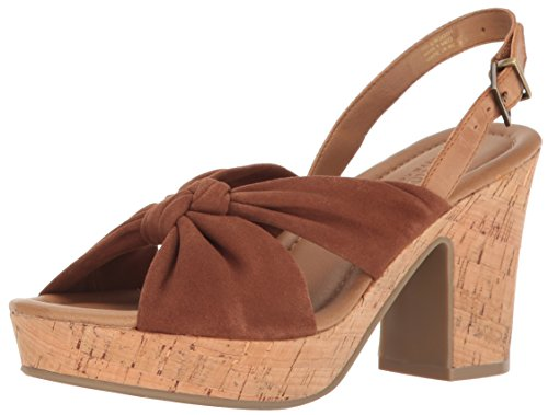 Kenneth Cole REACTION Women's Tole Booth Heeled Sandal, Tan, 8 M (Suede Slingback Heels)