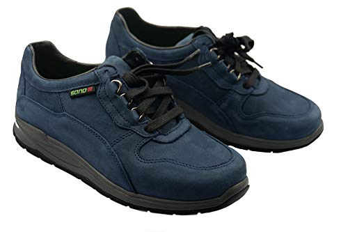 Sano for Mephisto Navy Rolling Nubuck Blue and Walking Shoes Slash Women Off1Wxgd