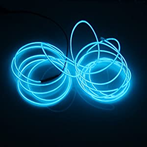 Lerway® Blue 3M Tron Neon Glowing Electroluminescent Wire EL Wire with Transformer for Christmas LightParty lightingAutomobile L&DIY PatternCool Neon ... & Lerway® Blue 3M Tron Neon Glowing Electroluminescent Wire EL Wire ... azcodes.com