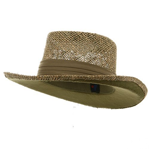 - MG Gambler Straw Hat - Khaki Band OSFM