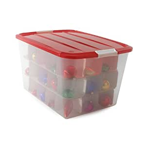 christmas ornament storage ornament storage box iris bcb 60 12812