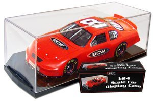 (4) BCW 1/24 Scale Die Cast Car Display Case Holders (Scale Model Display Case)