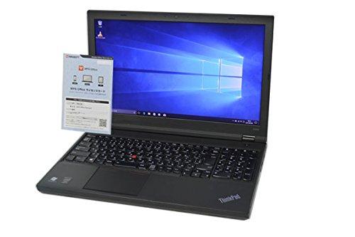 ノートパソコン 【OFFICE搭載】 Lenovo ThinkPad W541 Workstation 第4世代 i7 4710MQ FullHD (1920×1080) 15.6インチ 8GB/500GB/DVDマルチ/WiFi対応無線LAN/Bluetooth/NVIDIA Quadro K2100M/テンキー付フルキーボード/Windows 10   B07L5K58J5