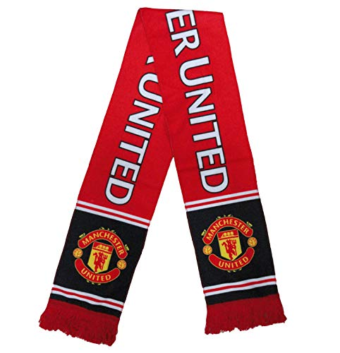 ZQfans Football Club Soccer Team Scarf Gift/Souvenir Accessory for Soccer Fans Double Side (ManchesterUnited, 57x6.3inch)