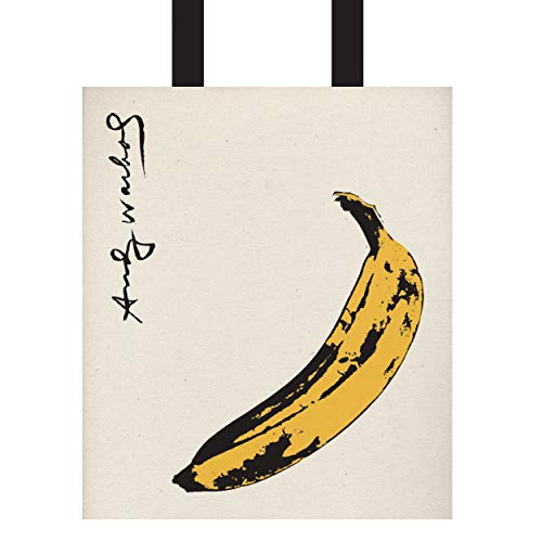 Galison - Andy Warhol Banana Tote Bag with Black and White Stripes on the Back Side - 17
