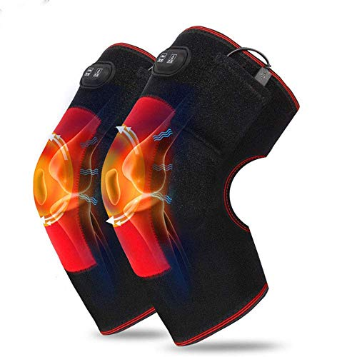 Electric Heating Knee Pad - Heating Massage Knee Brace Wrap for Arthritis,Rheumatism,Varicose Veins,Joint Pain(1 Pair)