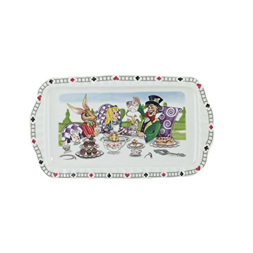 Cardew Design Alice in Wonderland Rectangular Porcelain Tray, 12 by 6-Inch