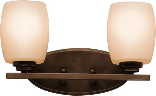 Kichler 5097OZ Bath Vanity Wall Lighting Fixtures, Bronze 2-Light (15
