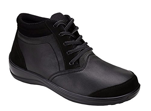 Orthofeet Milan Comfort Arthritis Diabetic Orthopedic Arch Support Flat Foot Pain Plantar Fasciitis Women's Boots Black Leather 7 M US by Orthofeet