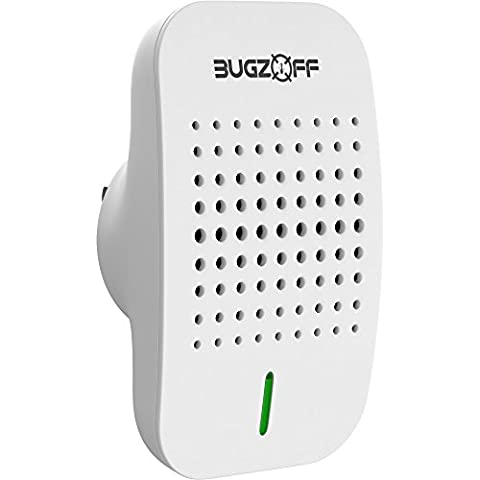 Bugzoff Pest Repeller Wall Plug [Keeps Your House Pest-Free] Ultrasonic Electric Wall Plug Repellent for Mosquito Roach Mice Flea Rodent Ants Rats Mouse Flies Spider Roaches Insects and (Ultrasonic Electric Repellent)