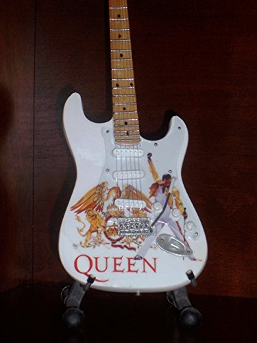 - Mini Guitar QUEEN FREDDIE MERCURY Tribute Display GIFT