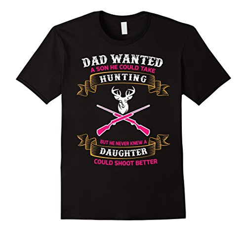 Mens Girls Are Better Shots Than Boys Hunting T-Shirt 2XL Black