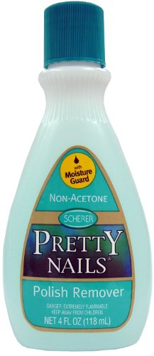 Pretty Nail Polish Remover - No-Acetone 4 oz. (Pack of 2)