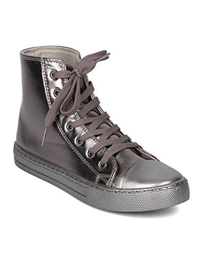 Metallic High Top Sneaker - 7
