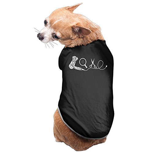 Rappy Dog's LOVE Hairdresser Art Logo Dog Sweater