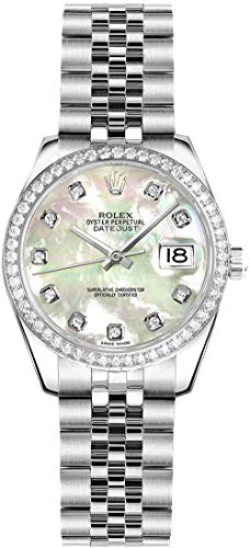 - Rolex Lady-Datejust 26 Mother of Pearl Dial Diamond Women's Watch 179384