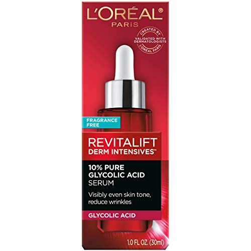 413Z8fFCtUL - L'Oreal Paris Pure Glycolic Acid Face Serum Skin Care I Revitalift Derm Intensives 10% Pure Glycolic Acid Serum I Dark Spot Corrector To Even Tone & Reduce Wrinkles I 1.0 Oz