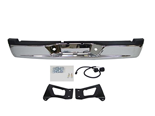 Dodge Dakota Step Bumper - 2005-2011 Dodge Dakota Rear Step Bumper Full Assy Chrome (Oem Type) (With Bumper Pad, License Lamp, with Brackets) CH1103113