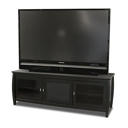 TechCraft SWBL60 60-Inch Wide Flat Panel TV Credenza - - Crafts Credenza Entertainment