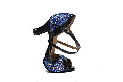 Miyoopark ,  Damen Tanzschuhe Blue-7cm Heel