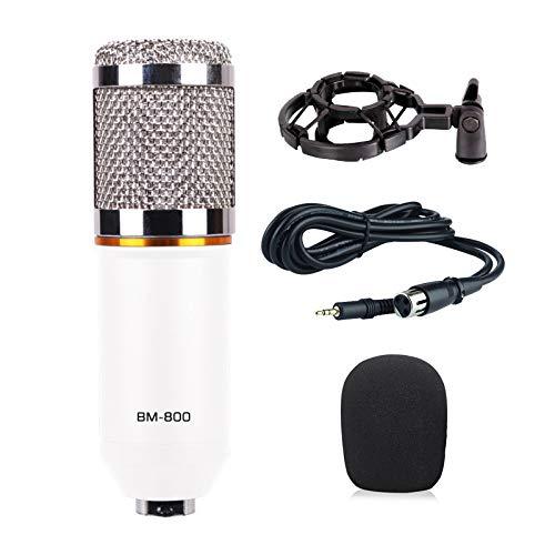Baoer BM800 Home Microphone KTV Computer Sound Recording Condenser Microphone White