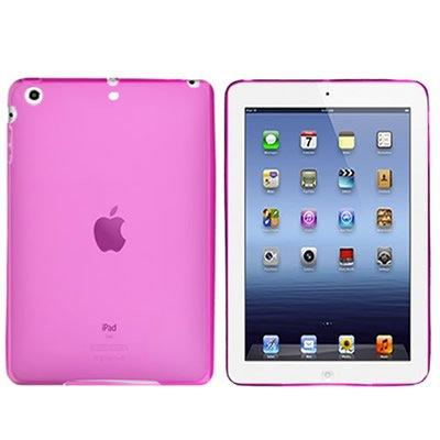 CoverON Flexible HOT PINK TPU Soft Cover Case with CHECKERED PLAID Design for APPLE IPAD MINI ()